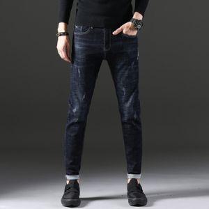 时尚潮牌 底抓毛牛仔裤 9533 蓝色