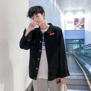 男士工装牛仔外套韩版潮流修身帅气青年上衣男日系休闲夹克