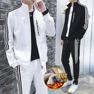 装男青少年加绒加厚卫衣潮流韩版