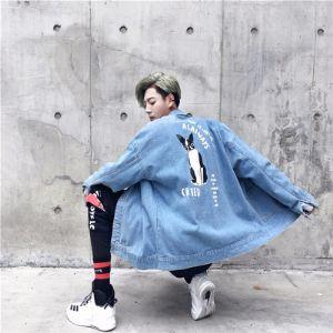 牛仔外套韩版男装夹克潮流帅气学生牛仔衣1904