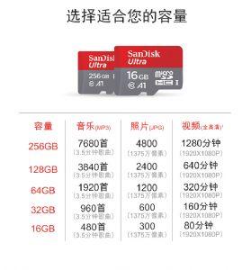 Sandisk/闪迪tf手机内存卡16G32G高速存储卡