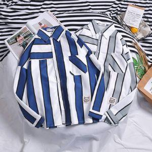 春秋季长袖衬衫男韩版帅气打底衬衣青年透气6