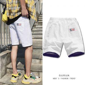 港风-厦门 K18701-P25 100%棉 新款大码短裤