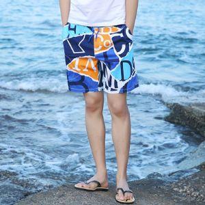 潮夏季沙滩裤男 纯棉宽松休闲花短裤五分裤男加大码速干大602