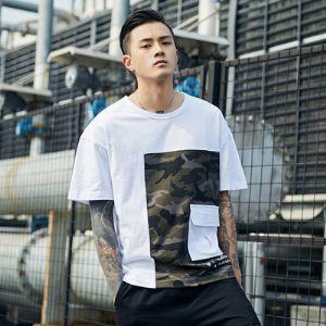 T恤男2019夏季韩版短袖T恤休闲宽松时尚圆领学生百搭