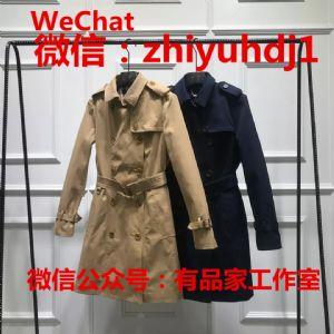 青岛原厂产hazzys哈吉斯女装风衣批发代购微商货源一件代发图片