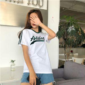 adidas阿迪达斯 三叶草19春季女子运动休闲短袖T恤 D