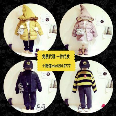 韩国童装女装货源 淘宝店实体微商厂家批发  一件代发 免费代理