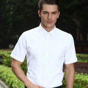 新款夏季男装新款韩版白衬衣修身职业装免烫正装男士衬衫短袖批发