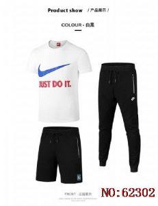 2018新款9018耐克休闲短袖运动五分裤 七分裤三件套