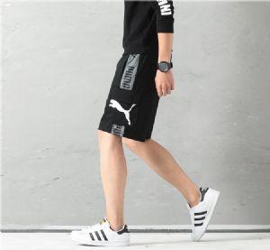 夏季PUMA彪马串标休闲反光裤子男士宽松束脚工装运动短裤收口