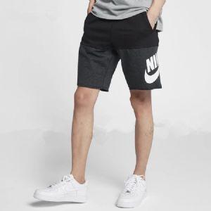 NIKE图案字母系带耐克2019新款休闲健身训练黑白五分裤短