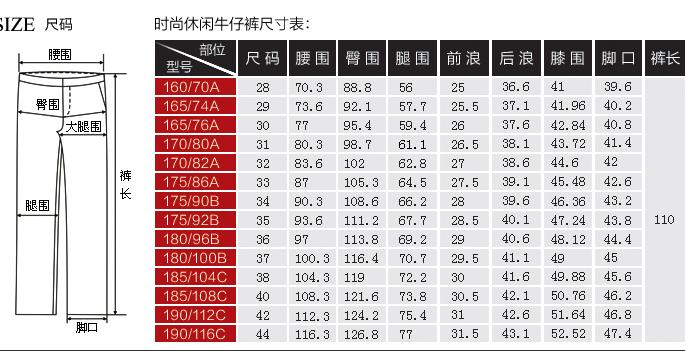 裤子的尺码是腰围吗_28码裤子是多大的尺寸_53货源网